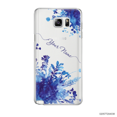 YOUR NAME WITH BLUE PLANT - Samsung Galaxy Note 5