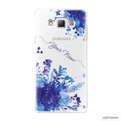 YOUR NAME WITH BLUE PLANT - Samsung Galaxy A7 2015