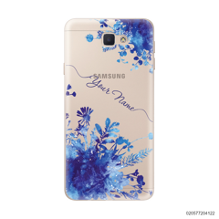YOUR NAME WITH BLUE PLANT - Samsung Galaxy J5 Prime
