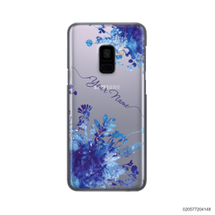 YOUR NAME WITH BLUE PLANT - Samsung Galaxy A8 2018