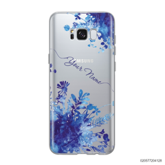 YOUR NAME WITH BLUE PLANT - Samsung Galaxy S8 plus