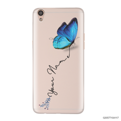 YOUR NAME WITH BLUE BUTTERFLY - Oppo F1 Plus
