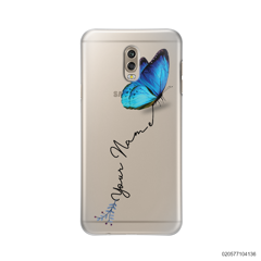 YOUR NAME WITH BLUE BUTTERFLY - Samsung Galaxy J7 Plus