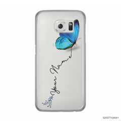 YOUR NAME WITH BLUE BUTTERFLY - Samsung Galaxy S6
