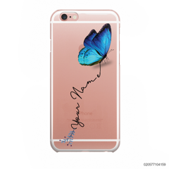 YOUR NAME WITH BLUE BUTTERFLY - Iphone 6/6s
