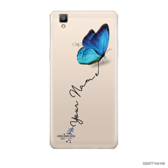 YOUR NAME WITH BLUE BUTTERFLY - Oppo F1