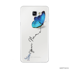 YOUR NAME WITH BLUE BUTTERFLY - Samsung Galaxy A9 Pro