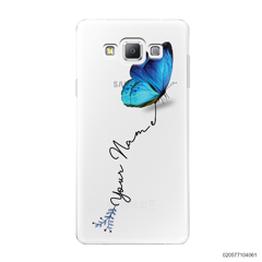 YOUR NAME WITH BLUE BUTTERFLY - Samsung Galaxy A7 2015