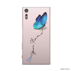 YOUR NAME WITH BLUE BUTTERFLY - Sony Xperia XZ