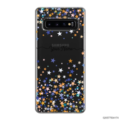 YOUR NAME WITH COLORFUL STARS - Samsung Galaxy S10 Plus