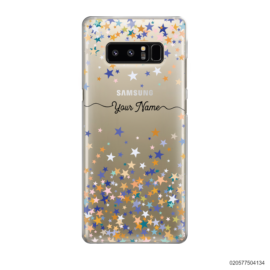 YOUR NAME WITH COLORFUL STARS - Samsung Galaxy Note 8