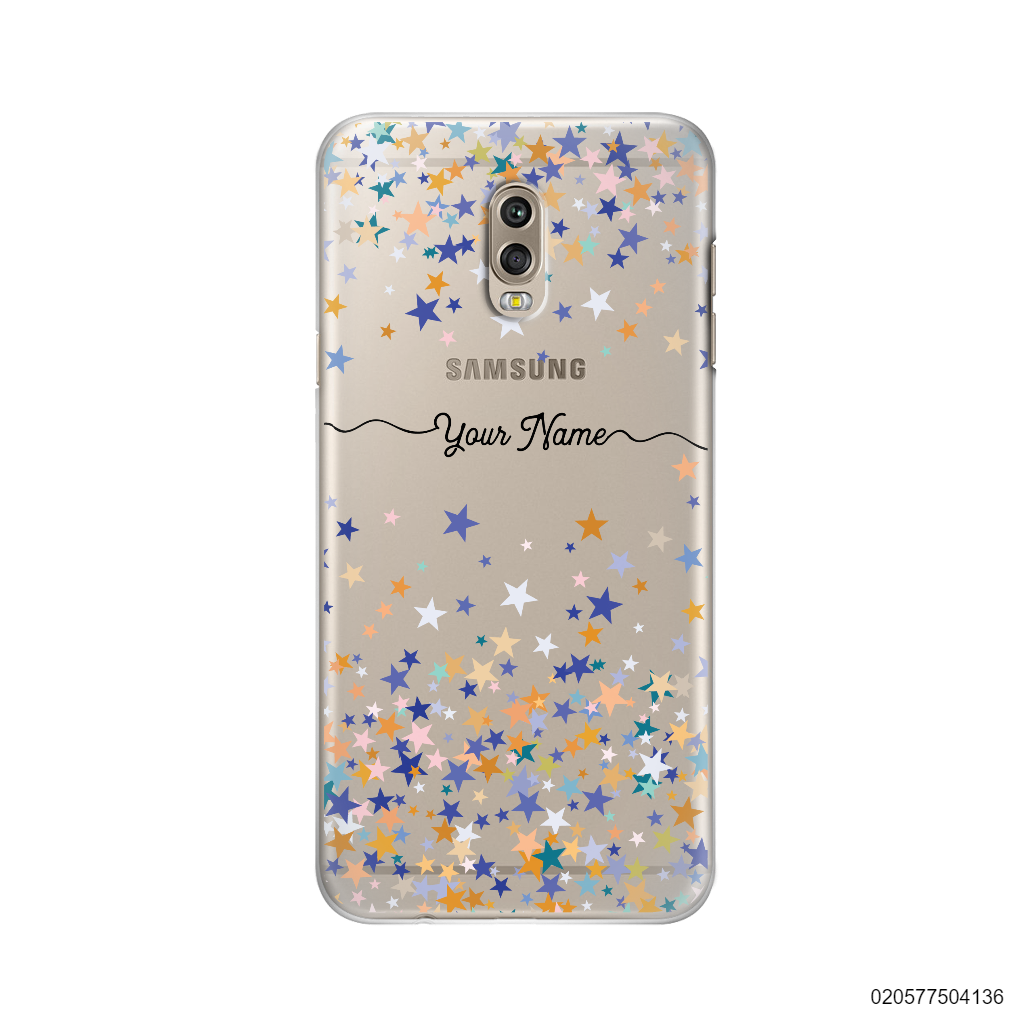 YOUR NAME WITH COLORFUL STARS - Samsung Galaxy J7 Plus