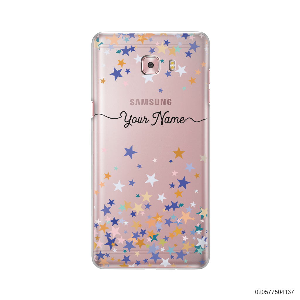 YOUR NAME WITH COLORFUL STARS - Samsung Galaxy C9 Pro