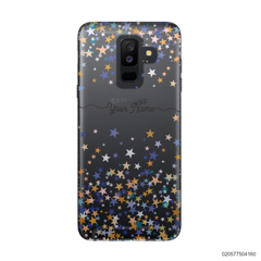 YOUR NAME WITH COLORFUL STARS - Samsung Galaxy A6 Plus 2018