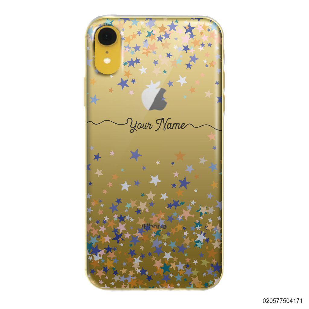 YOUR NAME WITH COLORFUL STARS - iPhone XR