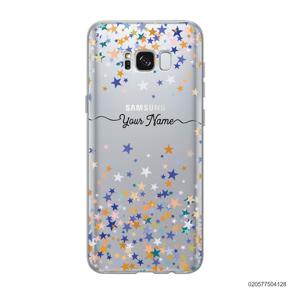 YOUR NAME WITH COLORFUL STARS - Samsung Galaxy S8 plus