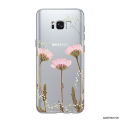 LIGHT PINK DRIED FLOWER - Samsung Galaxy S8 plus