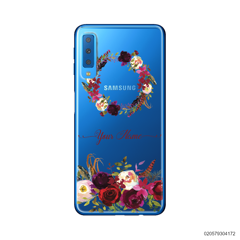 RED VELVET ROSE CIRCLE - Samsung Galaxy A7 2018