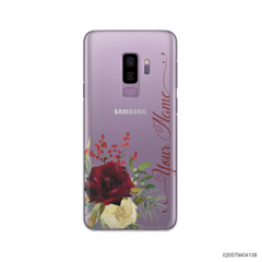 YOUR NAME WITH RED VELVET ROSE - Samsung Galaxy S9 Plus