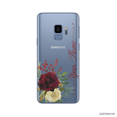 YOUR NAME WITH RED VELVET ROSE - Samsung Galaxy S9