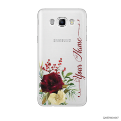 YOUR NAME WITH RED VELVET ROSE - Samsung Galaxy J7 2016