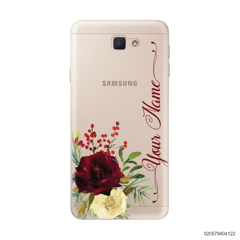 YOUR NAME WITH RED VELVET ROSE - Samsung Galaxy J5 Prime