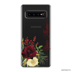 YOUR NAME WITH RED VELVET ROSE - Samsung Galaxy S10 Plus