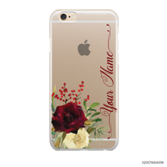 YOUR NAME WITH RED VELVET ROSE - iPhone 6/6s Plus