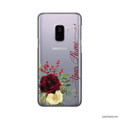 YOUR NAME WITH RED VELVET ROSE - Samsung Galaxy A8 Plus 2018