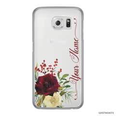 YOUR NAME WITH RED VELVET ROSE - Samsung Galaxy S6 Edge