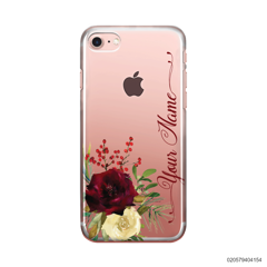 YOUR NAME WITH RED VELVET ROSE - iPhone 8