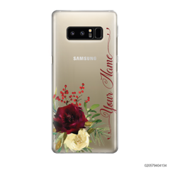 YOUR NAME WITH RED VELVET ROSE - Samsung Galaxy Note 8