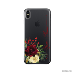 YOUR NAME WITH RED VELVET ROSE - iPhone X/ Xs