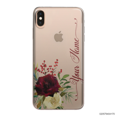 YOUR NAME WITH RED VELVET ROSE - iPhone XS Max