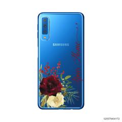 YOUR NAME WITH RED VELVET ROSE - Samsung Galaxy A7 2018