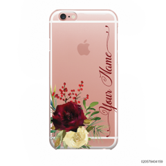 YOUR NAME WITH RED VELVET ROSE - iPhone 6/6s