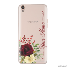 YOUR NAME WITH RED VELVET ROSE - Oppo F1 Plus