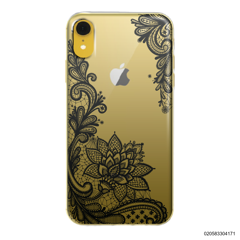 FLORAL HENNA STYLE - BLACK - iPhone XR