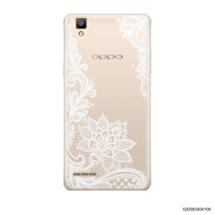 FLORAL HENNA STYLE - WHITE - Oppo F1