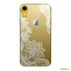 FLORAL HENNA STYLE - WHITE - iPhone XR