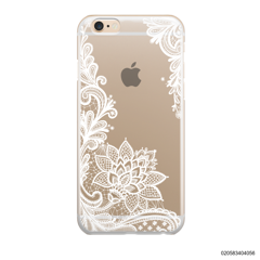 FLORAL HENNA STYLE - WHITE - iPhone 6/6s Plus