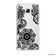 FLOWER IN HENNA STYLE - BLACK - Samsung Galaxy Note 5
