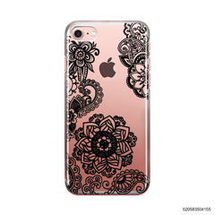 FLOWER IN HENNA STYLE - BLACK - iPhone 7