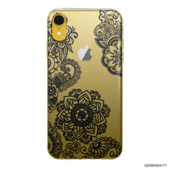 FLOWER IN HENNA STYLE - BLACK - iPhone XR