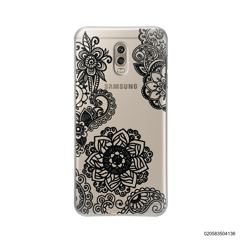 FLOWER IN HENNA STYLE - BLACK - Samsung Galaxy J7 Plus