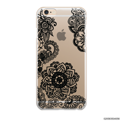 FLOWER IN HENNA STYLE - BLACK - iPhone 6/6s Plus