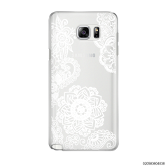 FLOWER IN HENNA STYLE - WHITE - Samsung Galaxy Note 5