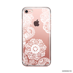 FLOWER IN HENNA STYLE - WHITE - iPhone 7