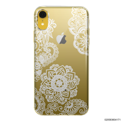 FLOWER IN HENNA STYLE - WHITE - iPhone XR