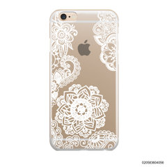 FLOWER IN HENNA STYLE - WHITE - iPhone 6/6s Plus